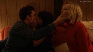 Malin Akerman, Kate Micucci - explicit threesome scene in Easy, season 1