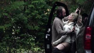 Petra Wright - sex scene in the forest near the car