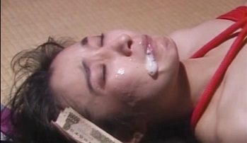 Scenes of coercion of young Japanese womens to hard BDSM sex with cumshot on the face