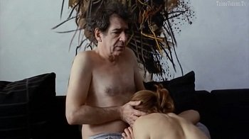 Old man cheating his wife with young girl (Daria Lorenci, Nina Ivanisin)