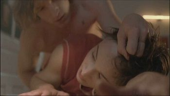 Passionate sex scenes with two young students in German film