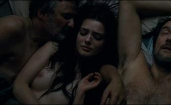 Roxane Mesquida - double penetration and rear entry anal sex with old mans