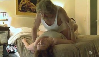 Sex scene between old couple