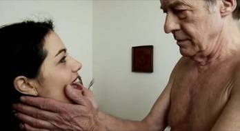 Old and young sex scene in French film