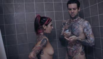Nude Joanna Angel make blowjob in Love Is Dead (2016)