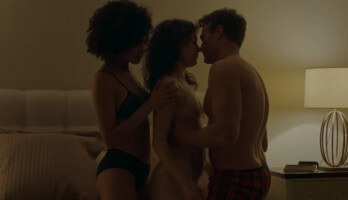 Threesome sex scene 2020 with Nathalie Emmanuel & Britt Lower